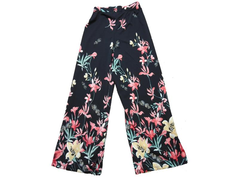5041 Wholesale flowery patterned trouser for girls kids clothes (10-12-14-16 age)