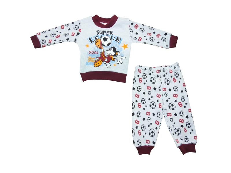 284 Wholesale football printed sweat with trouser for baby clothes (6-9-12 month)