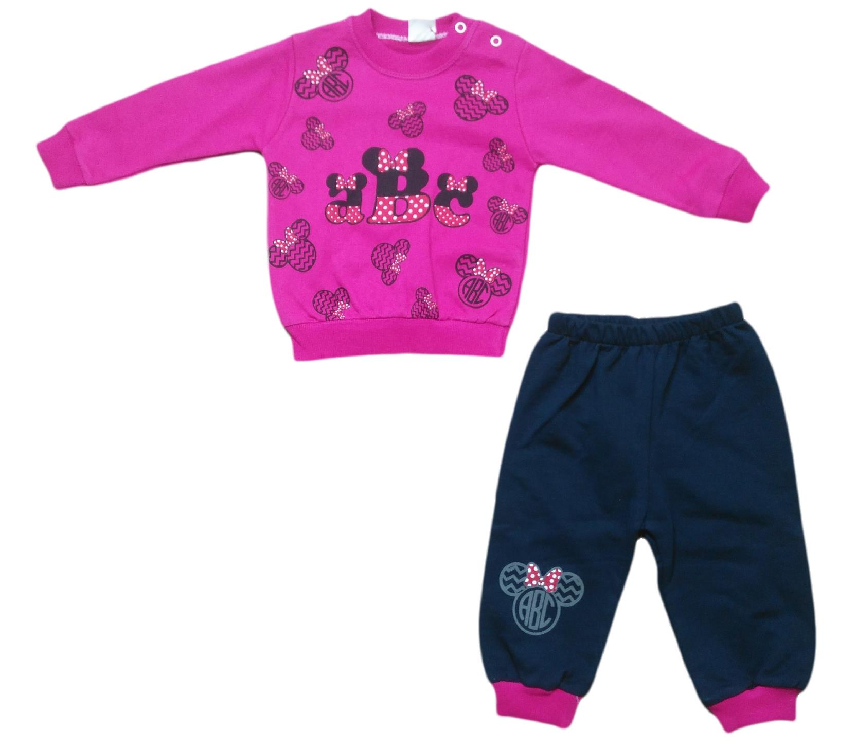 f48c562afa43 601 Wholesale abc printed sweat with trouser for girl children clothes (9-12-18  month)