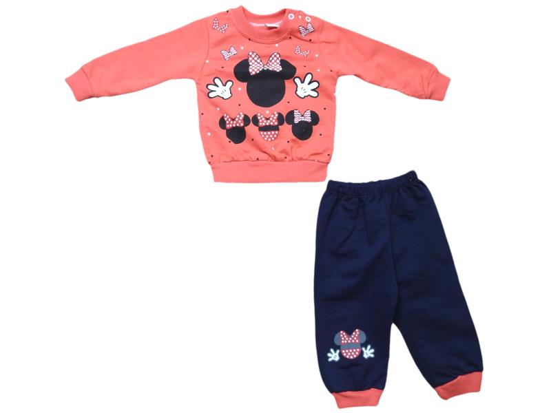604 Wholesale printed design sweat and trouser set for girls children clothes (9-12-18 month)