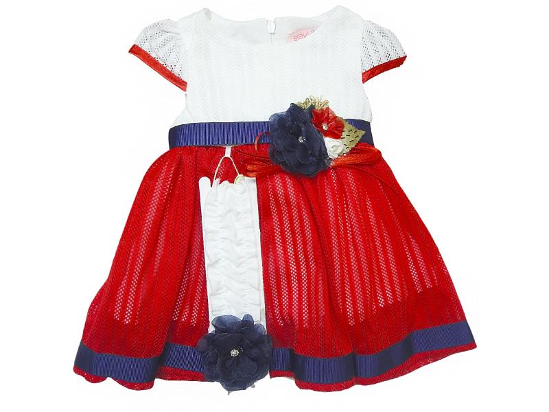 424 Wholesale tulle design dress with headband set for girl baby clothes (6-9-12-18 month)