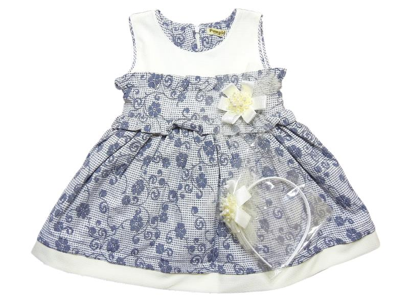 3080 Wholesale flower applique dress for girl kids clothes (2-3-4-5 age)