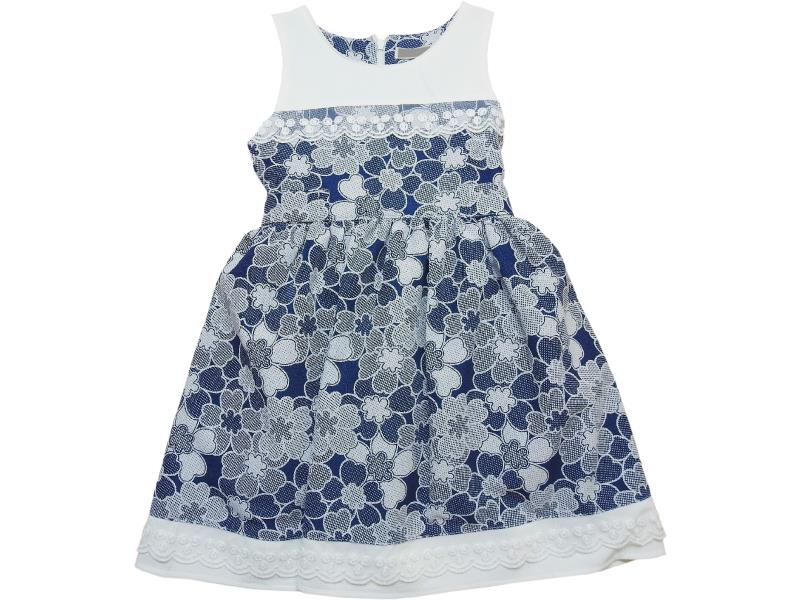 2075 Wholesale flowery embroidered dress for girls children clothes (5-6-7-8 age)