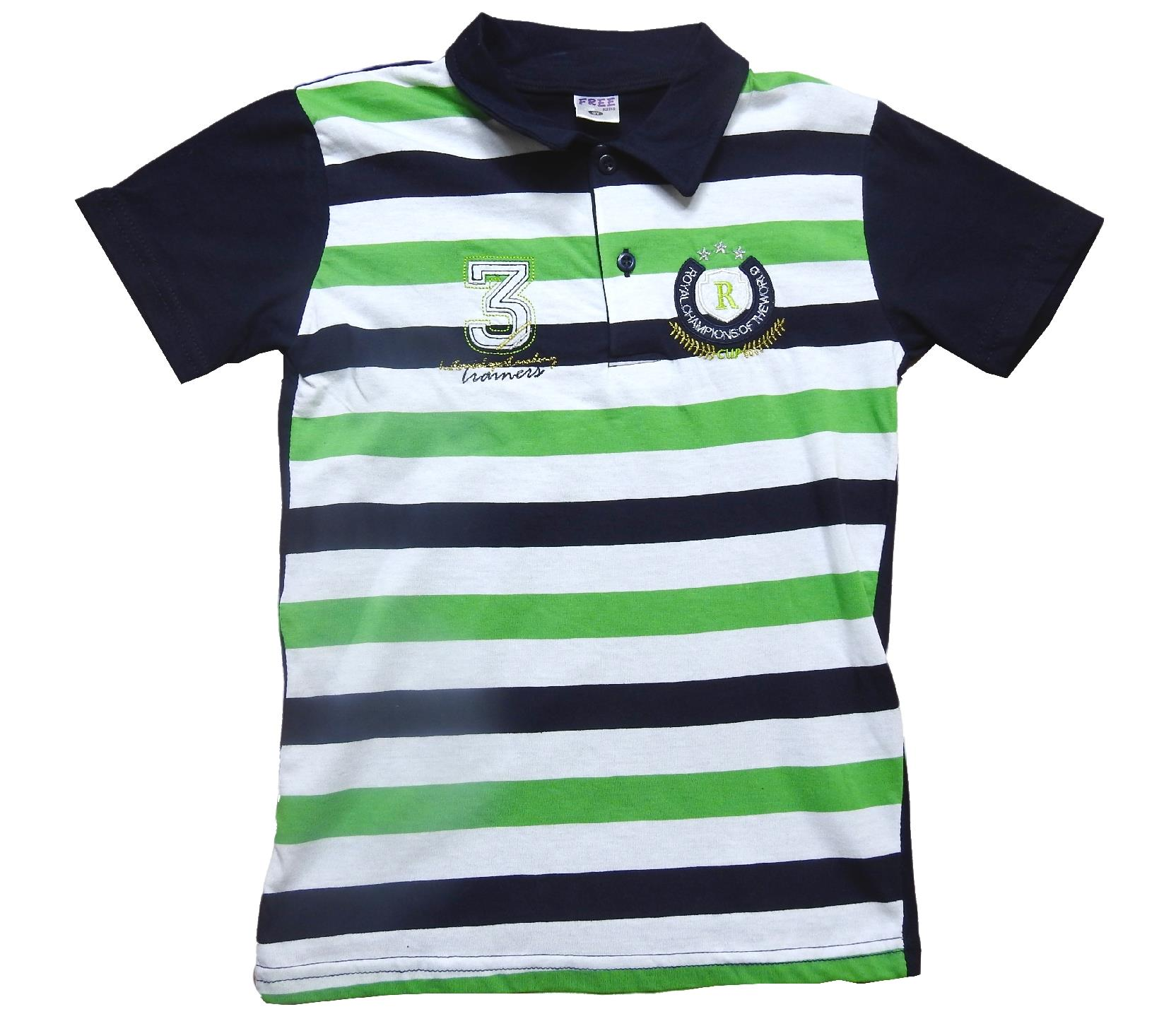 699 Wholesale striped designed polo t-shirt for boy children clothes (9-10-11-12 age)