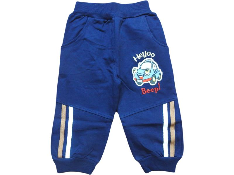 117 wholesale hello beep car printed jogging trouser for boy children clothes (1-2-3-4 age)