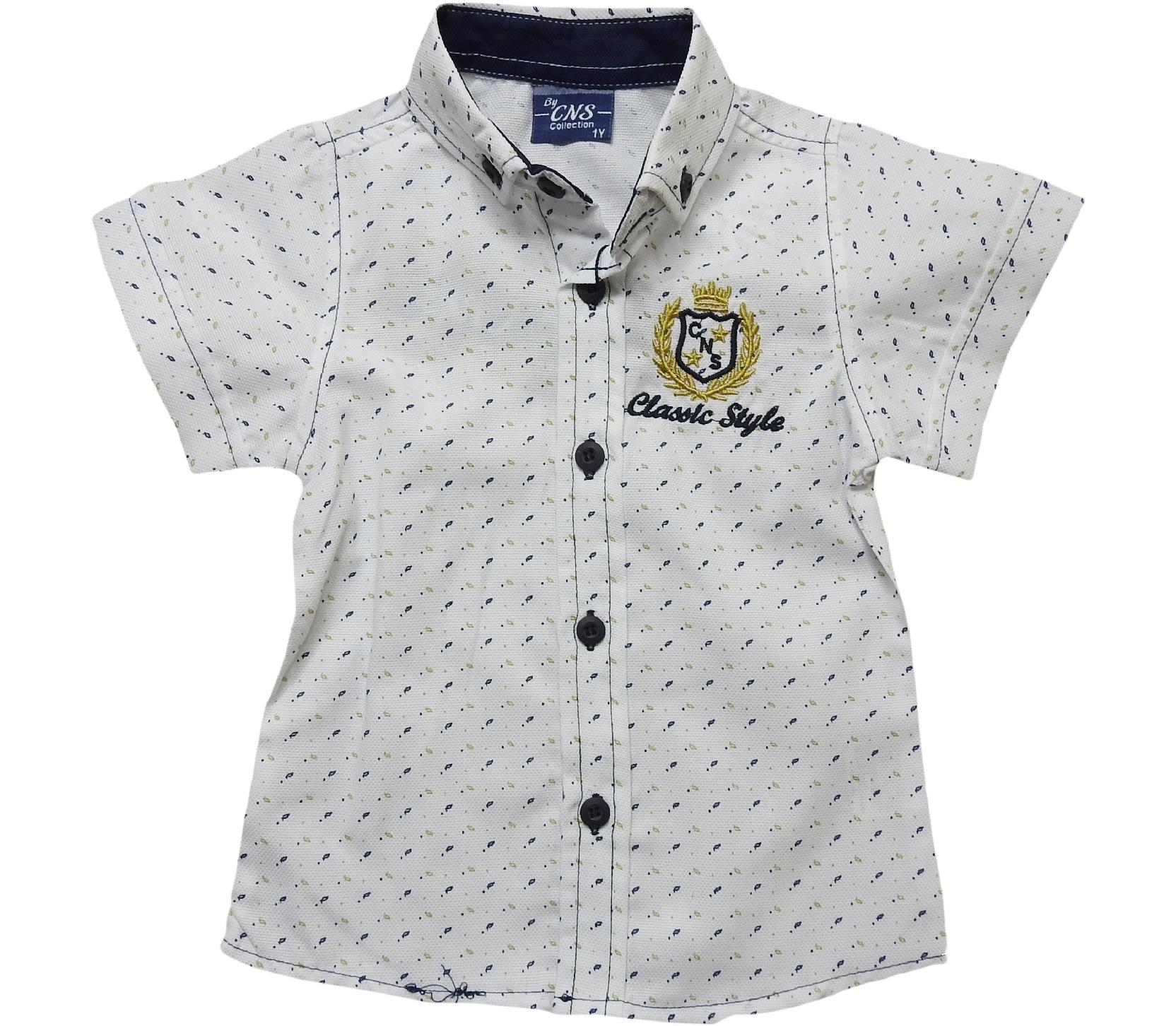712 Wholesale embroidered shirt for boy kids clothes (5-6-7-8 age)