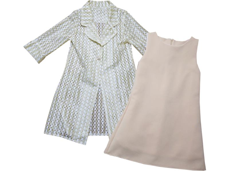8040 Wholesale tulle design cardigan with dress set for girls kids clothes (5-6-7-8 age)