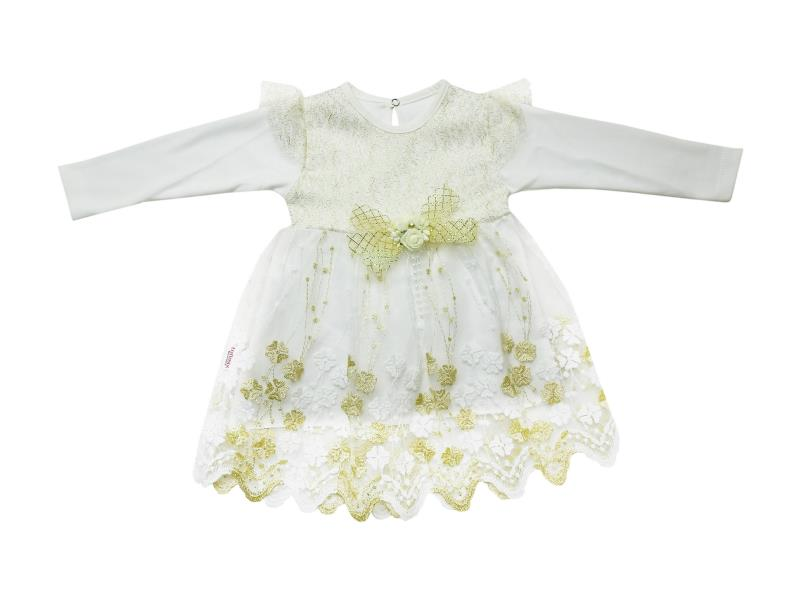 685 Wholesale tulle designed dress for girl children clothes (6-12-18 month)