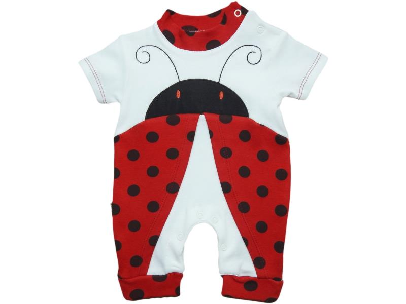 2708 Wholesale ladybug design romper for girl baby clothes (3-6-9 month)
