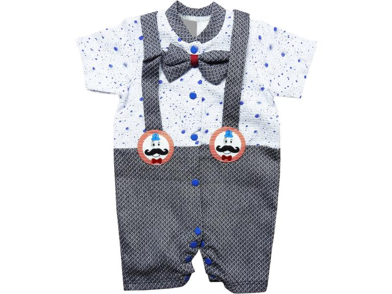 240 Wholesale decorative suspender dsign romper for boy baby clothes (3-6-9 month)