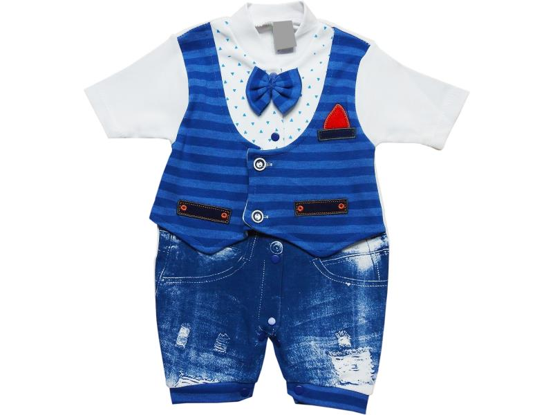 929 Wholesale striped design romper for boy baby clothes (3-6-9 month)