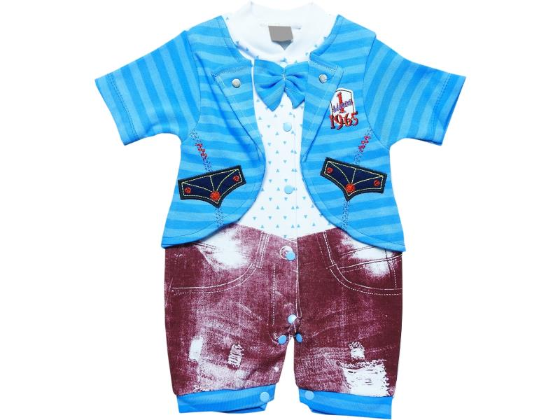 928 Wholesale striped design romper for boy baby clothes (3-6-9 month)