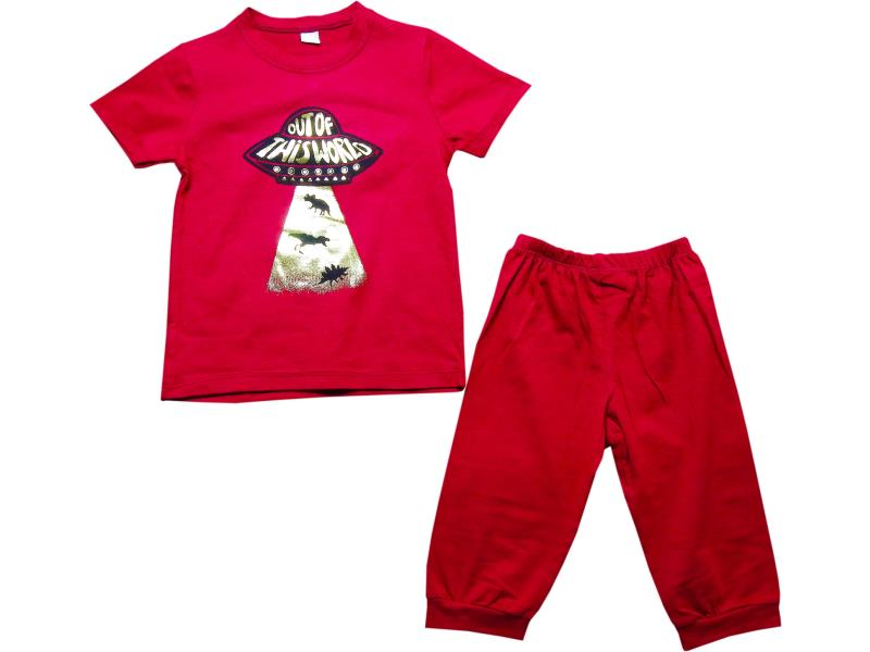 1063 Wholesale out of this world printed t-shirt and trouser set for boy kids clothes (2-3-4-5 age)
