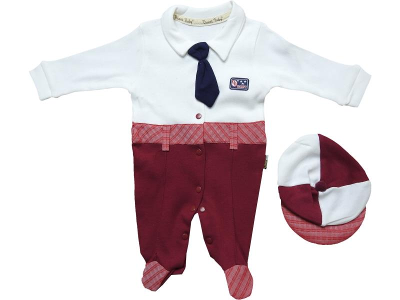 1040 Wholesale romper with beanie set for boy baby clothes (3-6-9 month)
