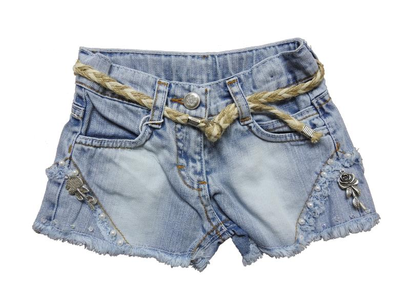 4002 Wholesale jean short for girl children clothes (2-3-4-5-6 age)