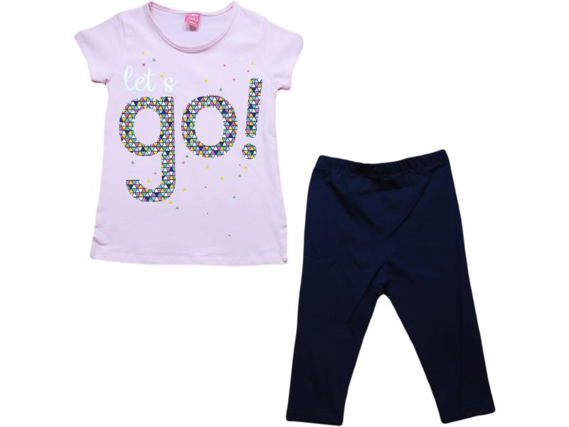 1440 Wholesale go printed t-shirt and tight set for girl kids clothes (7-8-9-10 age)