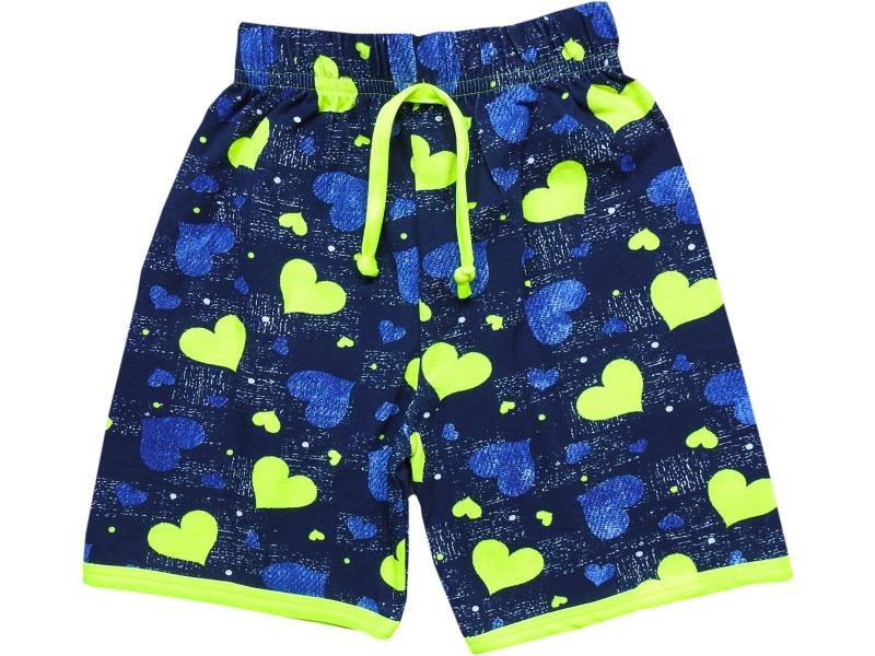 711 Wholesale hearts patterned short for girl children clothes (1-2-3-4 age)