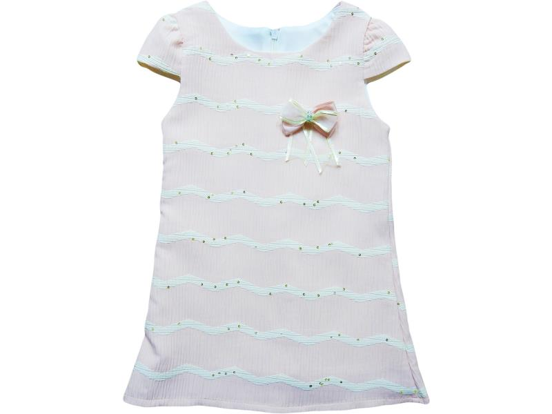 8108 Wholesale flower applique dress for girl children clothes (1-2-3-4 age)