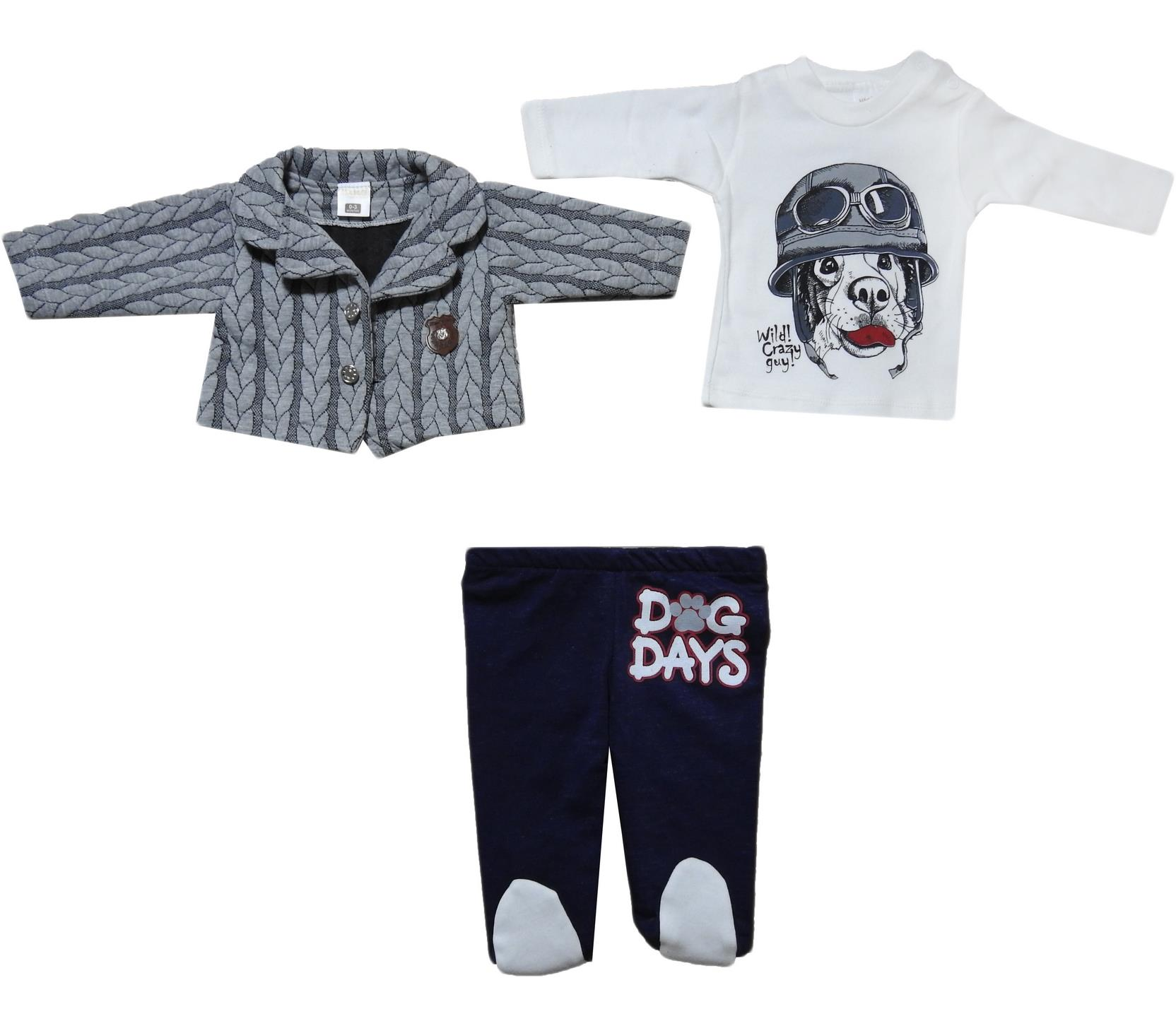 1015 Wholesale three-piece suit for newborn boys for 3-6-9 months