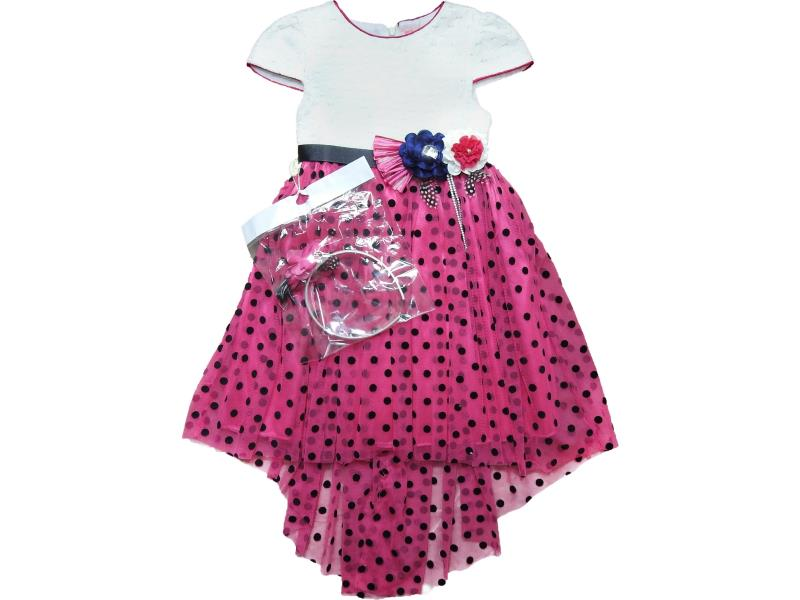 622 Wholesale spotty dress with hair band set for girl kids clothes (6-7-8-9 age)