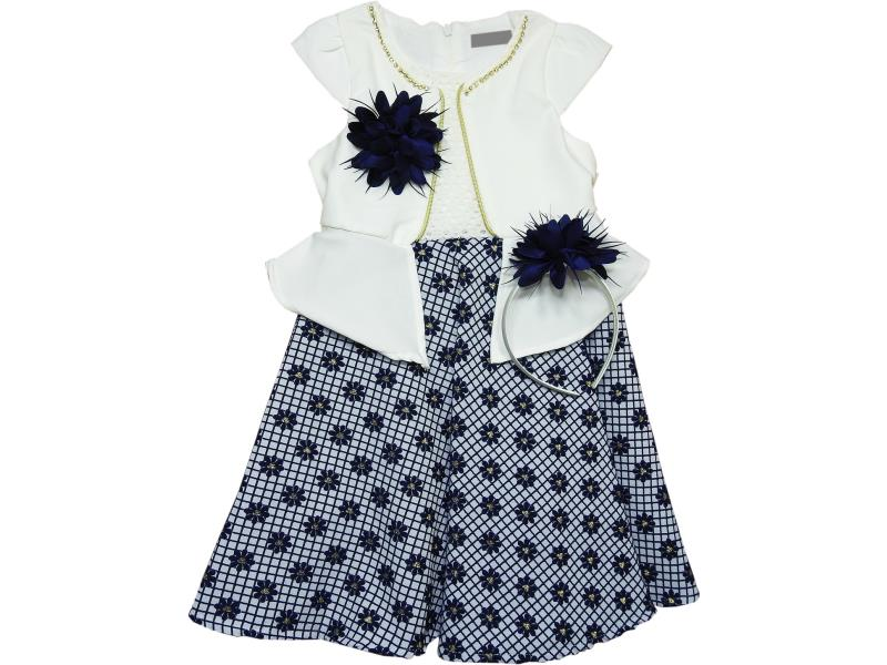 1842 Wholesale spotty dress with decorative bolero for girl childre clothes (5-6-7-8 age)