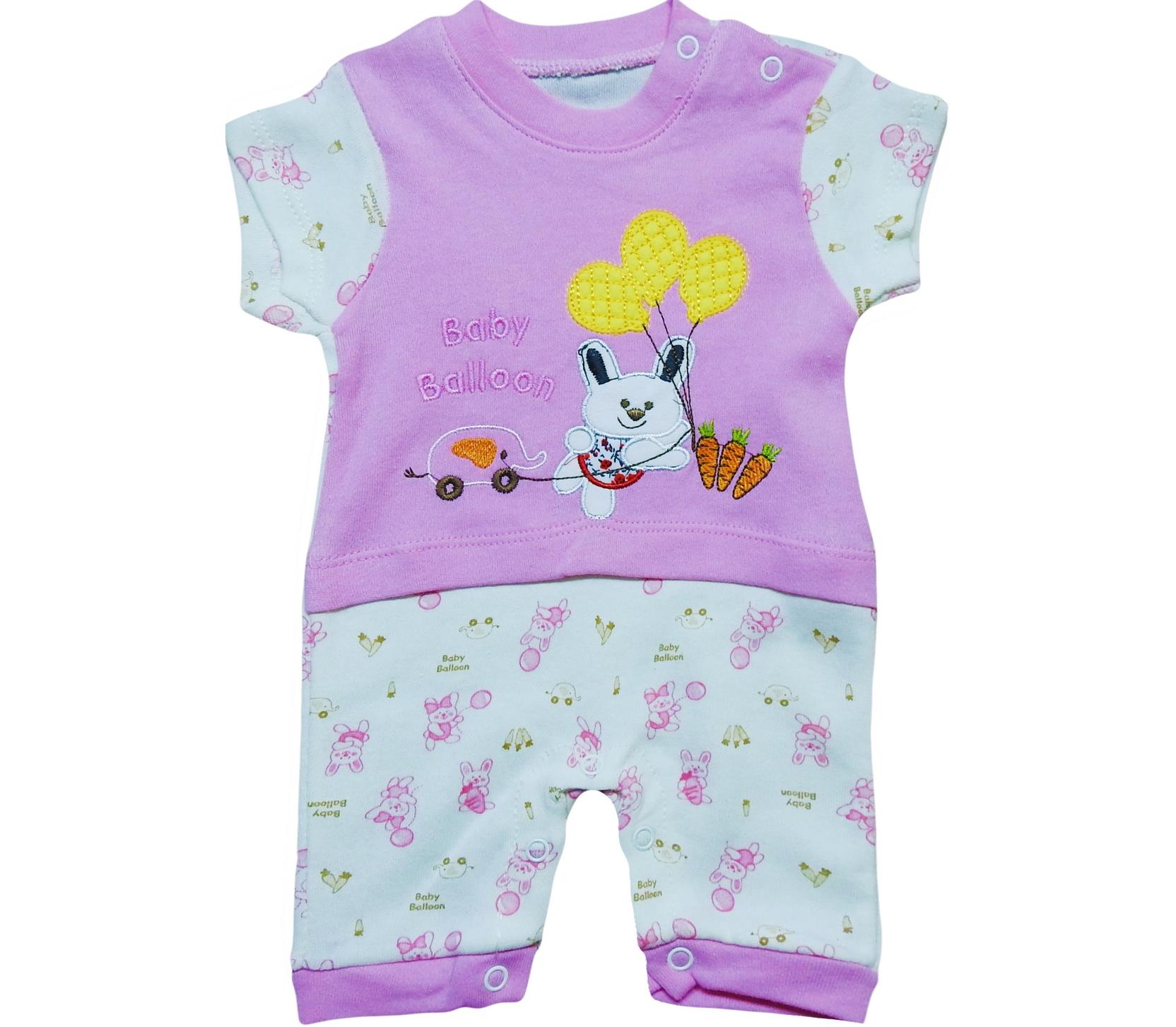 1095 Wholesale baby ballon printed romper for girl baby clothes (3-6-9-12 month)