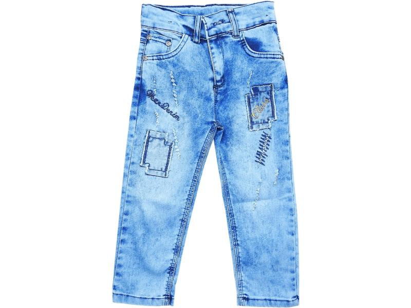 4056 Wholesale faded denim pant for boy kids clothes (3-4-5-6-7 age)
