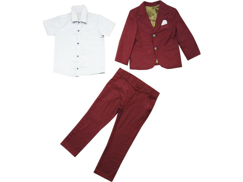 3431 Wholesale jacketwith pant and shirt set for boy kids clothes (2-3-4-5 age)