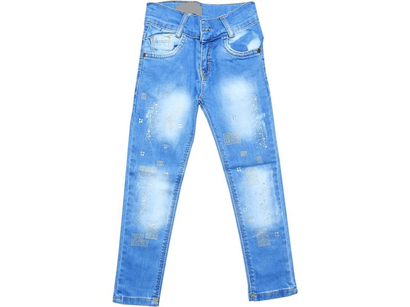 4505 Wholesale faded jeans pant for girl kids clothes (3-4-5-6-7 age)