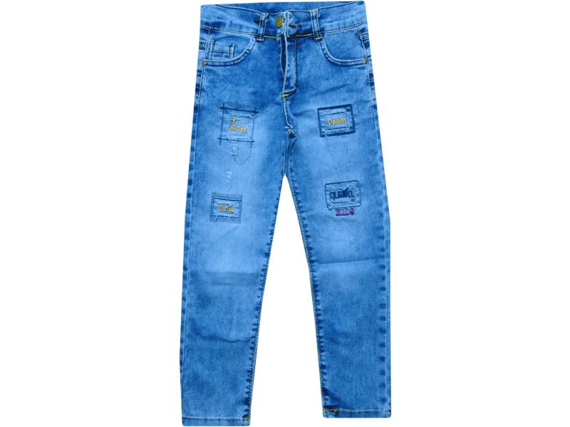 9202 Wholesale faded denim pant for boy kids clothes (8-9-10-11-12 age)