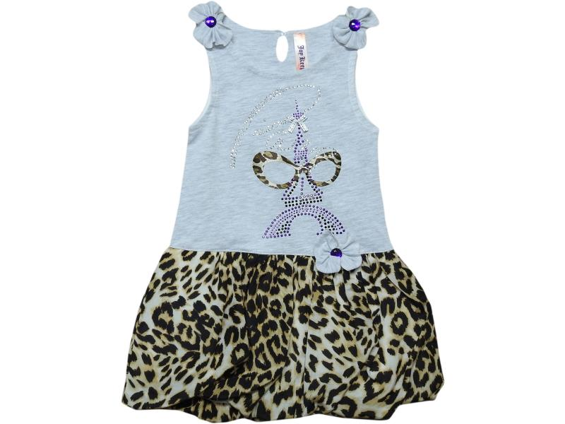 2385 Wholesale leopard embroidery dress for girl kids clothes (3-4-5-6 age)