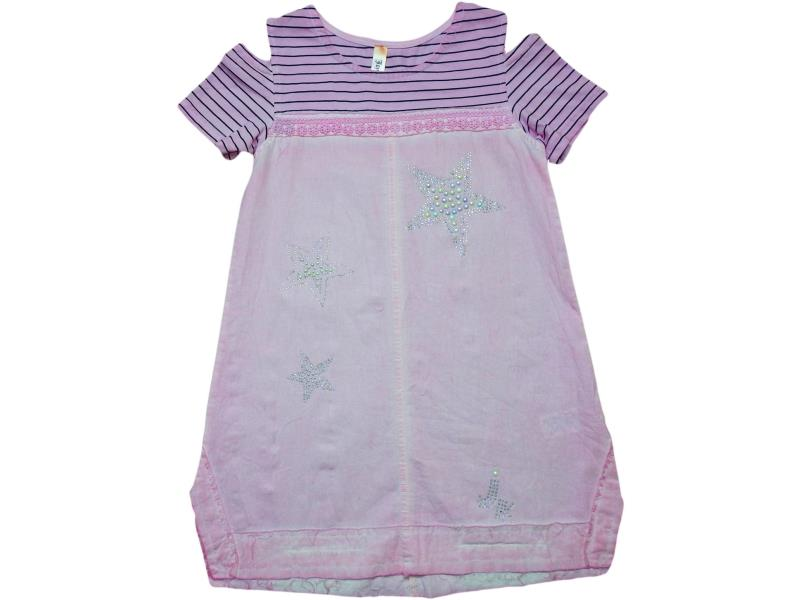 2419 Wholesale star embroidery dress for girl kids clothes (5-6-7-8 age)