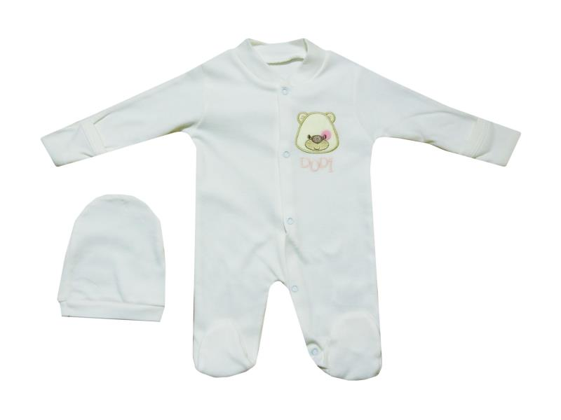 00202 Wholesale romper with beanie set for baby clothes (6 month)