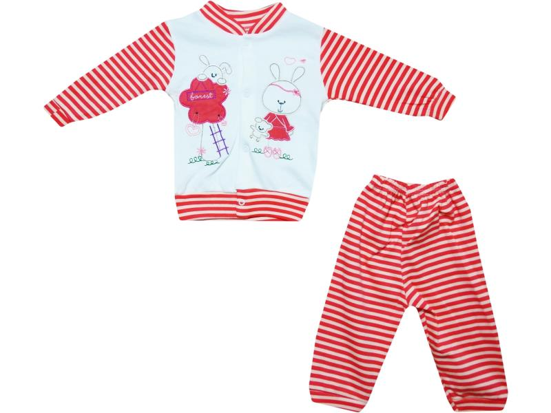 987 Wholesale long sleeve top with trouser set for baby clothes (3-6-9 month)