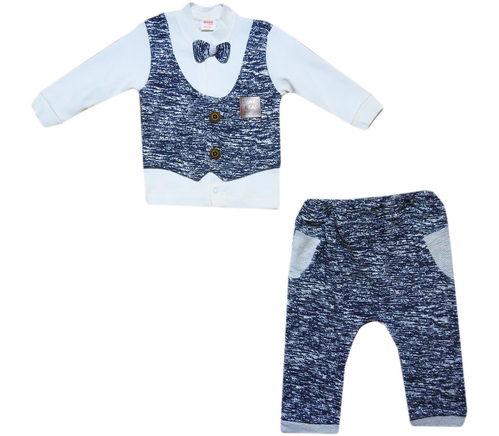 289 Wholesale two-piece suit for kids, blouse with vest+pants for boys 9-12-18 months