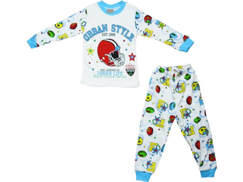 31125 Wholesale urban style printed pyjama set for children clothes (2-3-4 age)