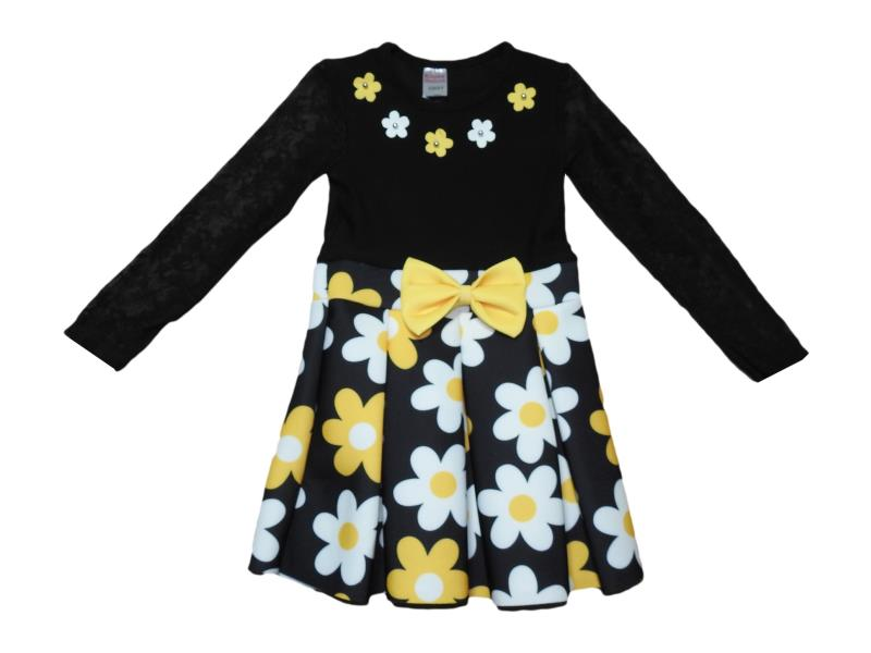 040 Wholesale flower embroidery dress for girl kids clothes (2-3-4-5 age)