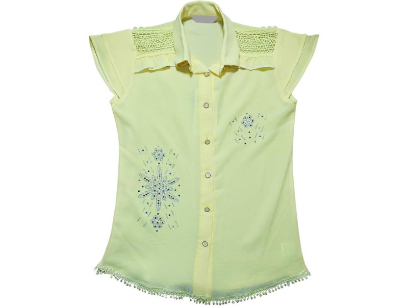 8000 Wholesale patterned shirt for girl children clothes (9-10-11-12 age)