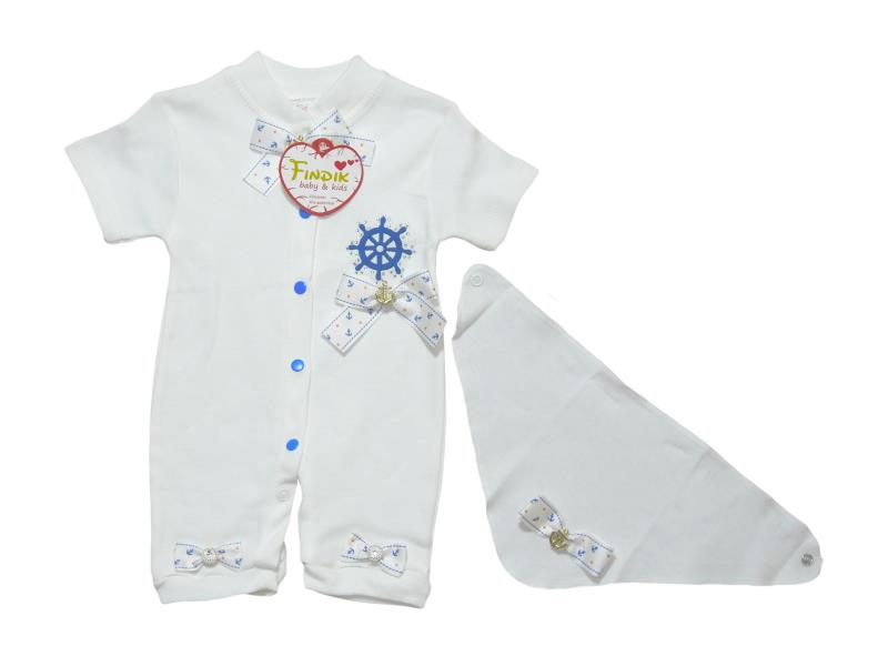 25025 Wholesale romper with bandana for girl baby clothes (62 cm)