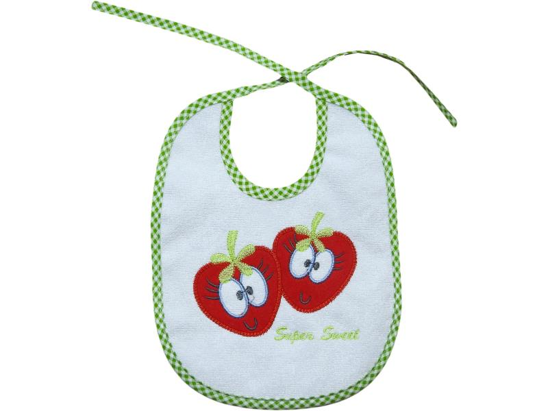 4003 Wholesale starwberry printed bibs for baby products 6 pieces in package