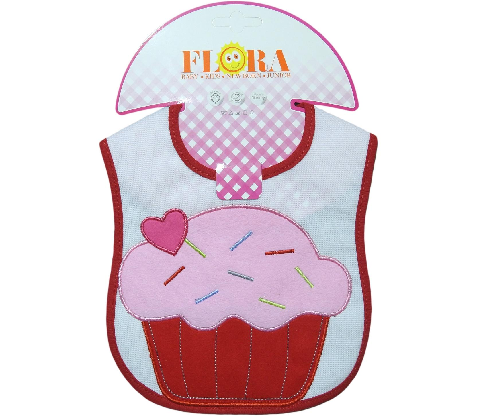 2016 Wholesale cake printed bibs for baby poducts 6 pieces in package
