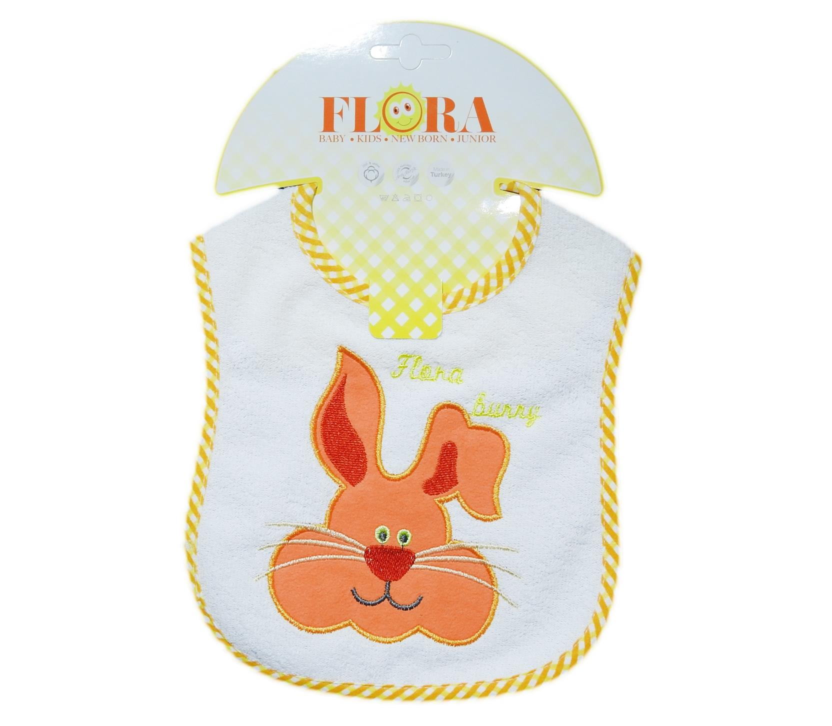 2011 Wholesale rabbit printed bib for baby clothes 6 pieces in package