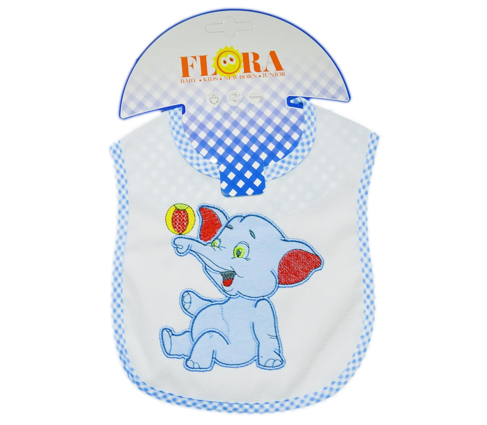 2007 Wholesale elephant printed bibs for baby products 6 pieces in package
