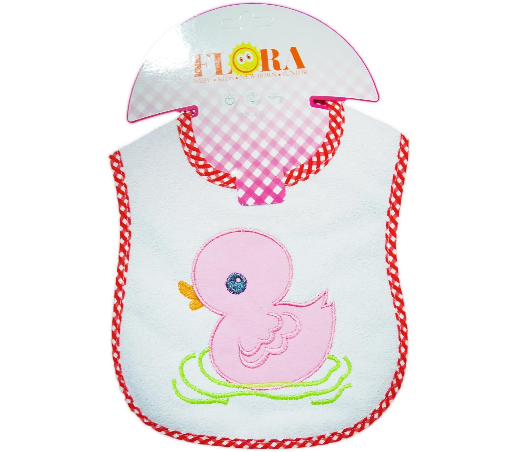 2009 Wholesale duck printed bibs for baby products 6 pieces in package