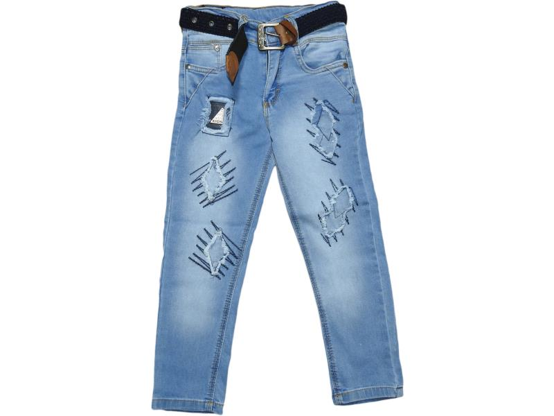 1102 Wholesale faded denim jeans pant for kids (5-6-7-8 age)