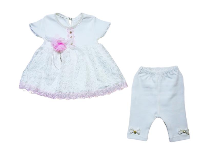 Wholesale two piece suit for baby girls for 3-6-9-12 months