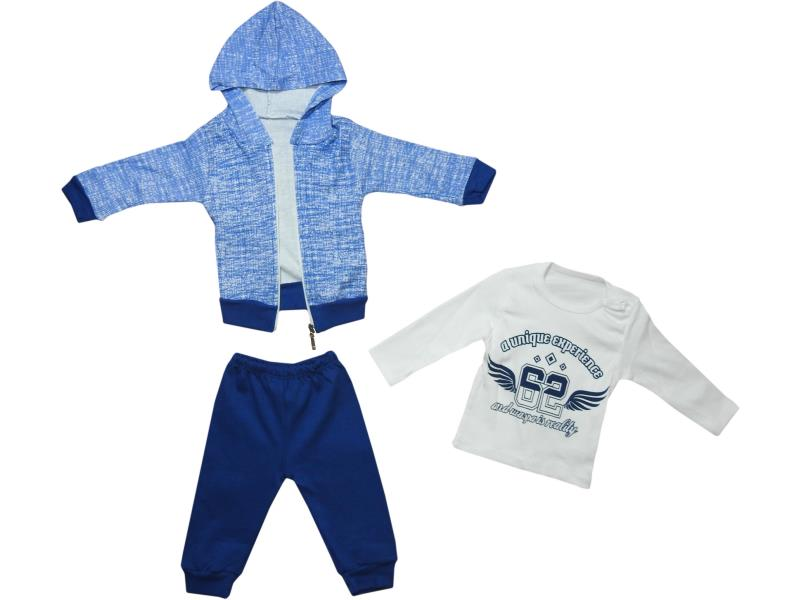 1825 Wholesale hooded cardigan with t-shirt and trouser set for boy baby clothes (6-9-12 month)
