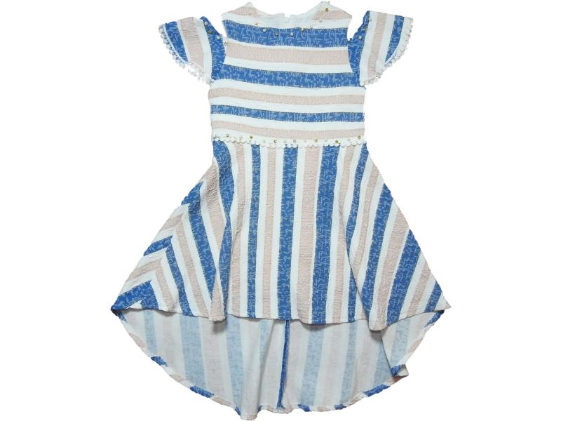 0560 Wholesale striped design dress for girl kids clothes (6-7-8-9 age)