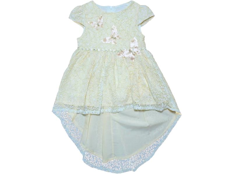 0557 Wholesale butterfly embroidery dress for girl kids clothes (2-3-4-5 age)