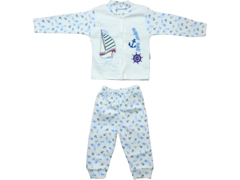 3003 Wholesale sail patterned pyjama set for baby clothes (3-6 month)